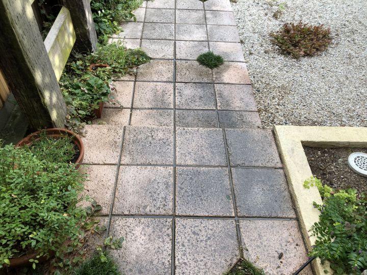 アプローチの土間汚れ落とし【自宅のDIY】ワクワクブログ